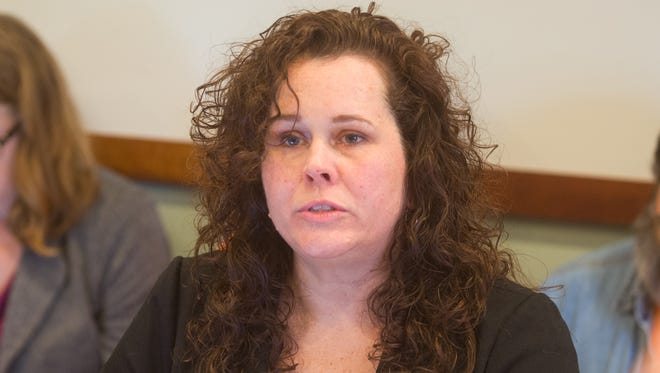 Auburn Watersong, associate director of public policy for the Vermont Network Against Domestic and Sexual Violence, speaks at the House Judiciary Committee on March 14, 2017.