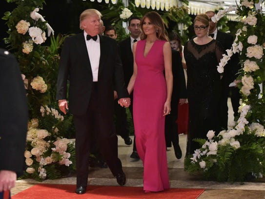 President Trump and first lady Melania Trump arrive for the 60th ...