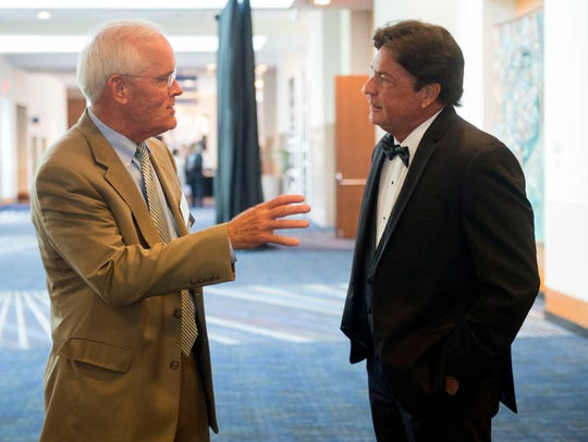 Rod Demonico, right, chats with Tim Priest at the Greater