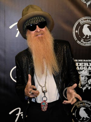 Billy Gibbons of ZZ Top on the red carpet at the Merle Haggard Tribute concert at Bridgestone Arena Thursday, April 6, 2017 in Nashville, Tenn.
