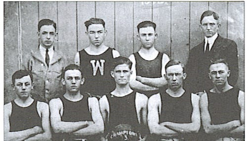 The 1913 Wingate state championship team.