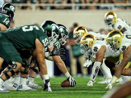 NCAA Football: Notre Dame at Michigan State