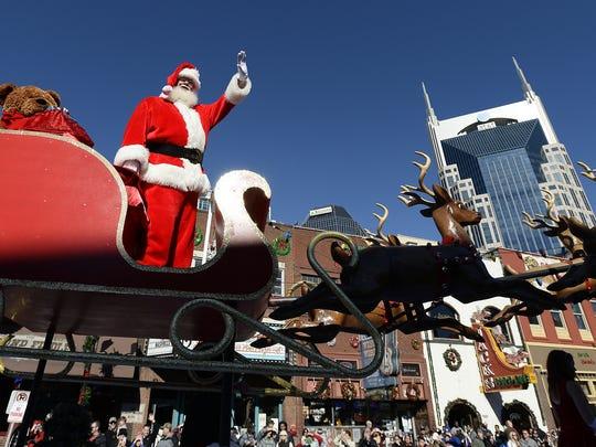 Dec. 2NASHVILLE CHRISTMAS PARADE: 8:30 a.m. Downtown