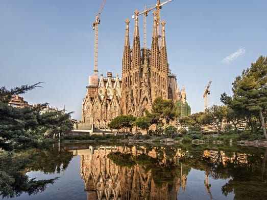 No. 1 attraction: Basilica of the Sagrada Familia,