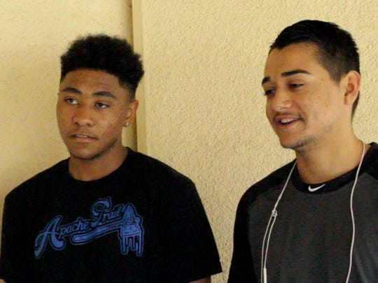 Rashad Poole, left, and Joe Gonzales said they were not familiar with the CV Link project, but supported the idea of a cross-valley bike path.