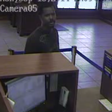 Investigators say they're looking for this man in connection with the robbery of a credit union in Baldwin Monday morning.