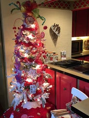 One of many decorated Christmas trees in the Schlappi