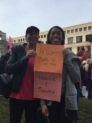 Lisa Walton and Dana Walton attended the Women's March