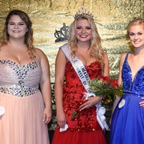 Winners of the Fairest of the Fair pageant are, from left, Victoria O'Neill, third place; Savannah Jackson, Most Photogenic and first place; and Brianna Neal, second place. Jackson is a senior at Cheatham County Central High School.