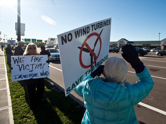 Resident angry over a proposed plan for a wind turbine