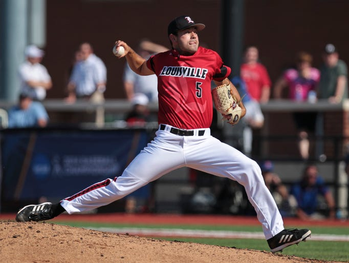 Anthony Kidston pitched seven innings and got the win in Lousville's 6-3 win over Kansas Saturday. May 31, 2014