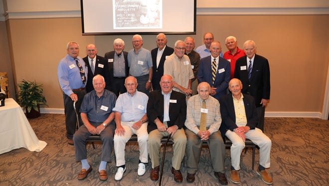 Former Marquette University football players had a reunion on campus.