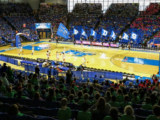 The MTSU women's basketball hosts Coppin State at Murphy Center on Dec. 5, 2017. The athletic department broke even for the third straight year.