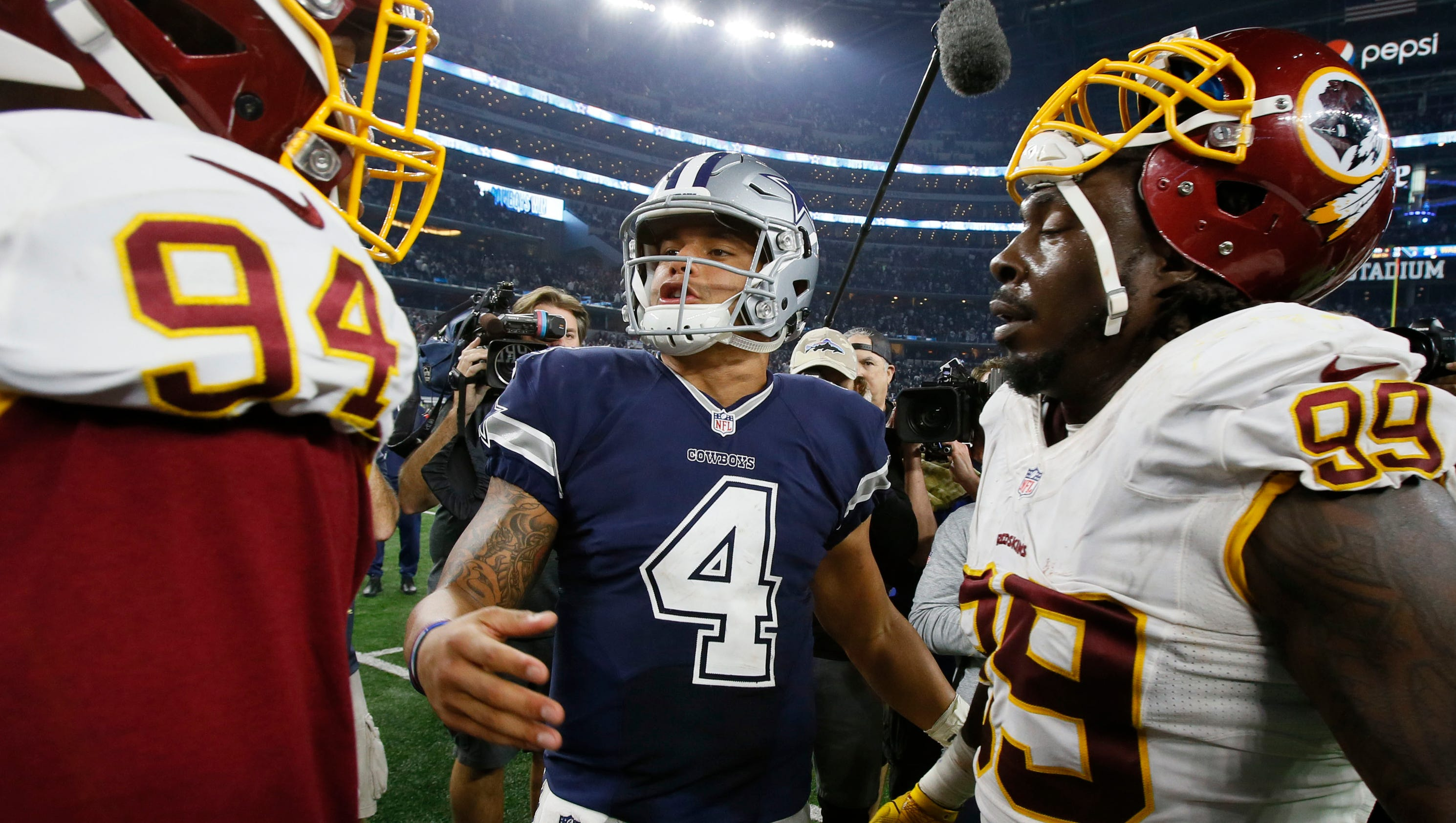 CowboysRedskins was mostwatched regularseason game in Fox history