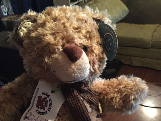 A teddy bear Bobby Jo Manley has used as a comfort