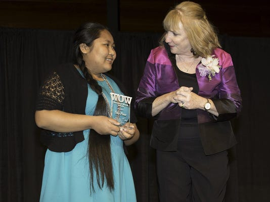 WOW Awardee Say Paw with Co-Chair Mary O'Keefe (1)