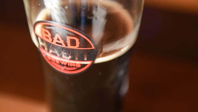 Luds Robust Porter, created by John Ludwig, is pictured Wednesday, Dec. 21, at Bad Habit Brewing Co. in St. Joseph.