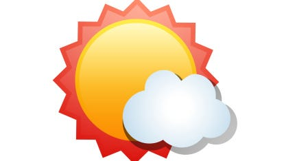 Illustration of sun and cloud