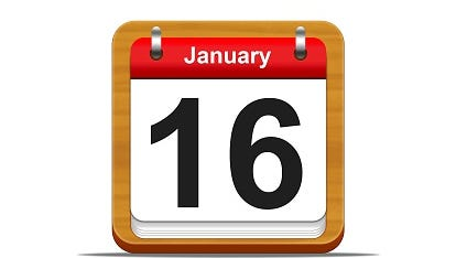 Save the date: Jan. 16.