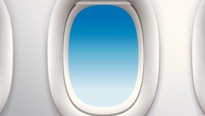 Aircraft window file photo