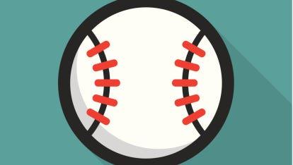 Baseball ball retro poster