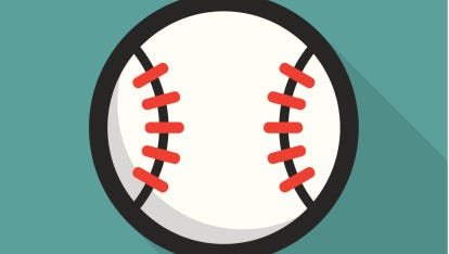 Baseball ball retro poster