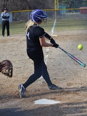 Lakeview's Chloe Baum takes a swing during action against