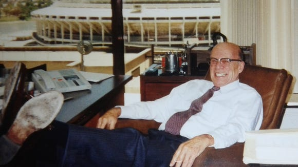 Sid Weil had a nice view of Riverfront Stadium from his law firm's offices.