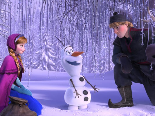 Anna_Olaf_Kristoff_Sven in a scene from 'Frozen'