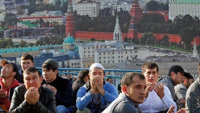Eid prayer in Moscow on Sept. 12, 2016.