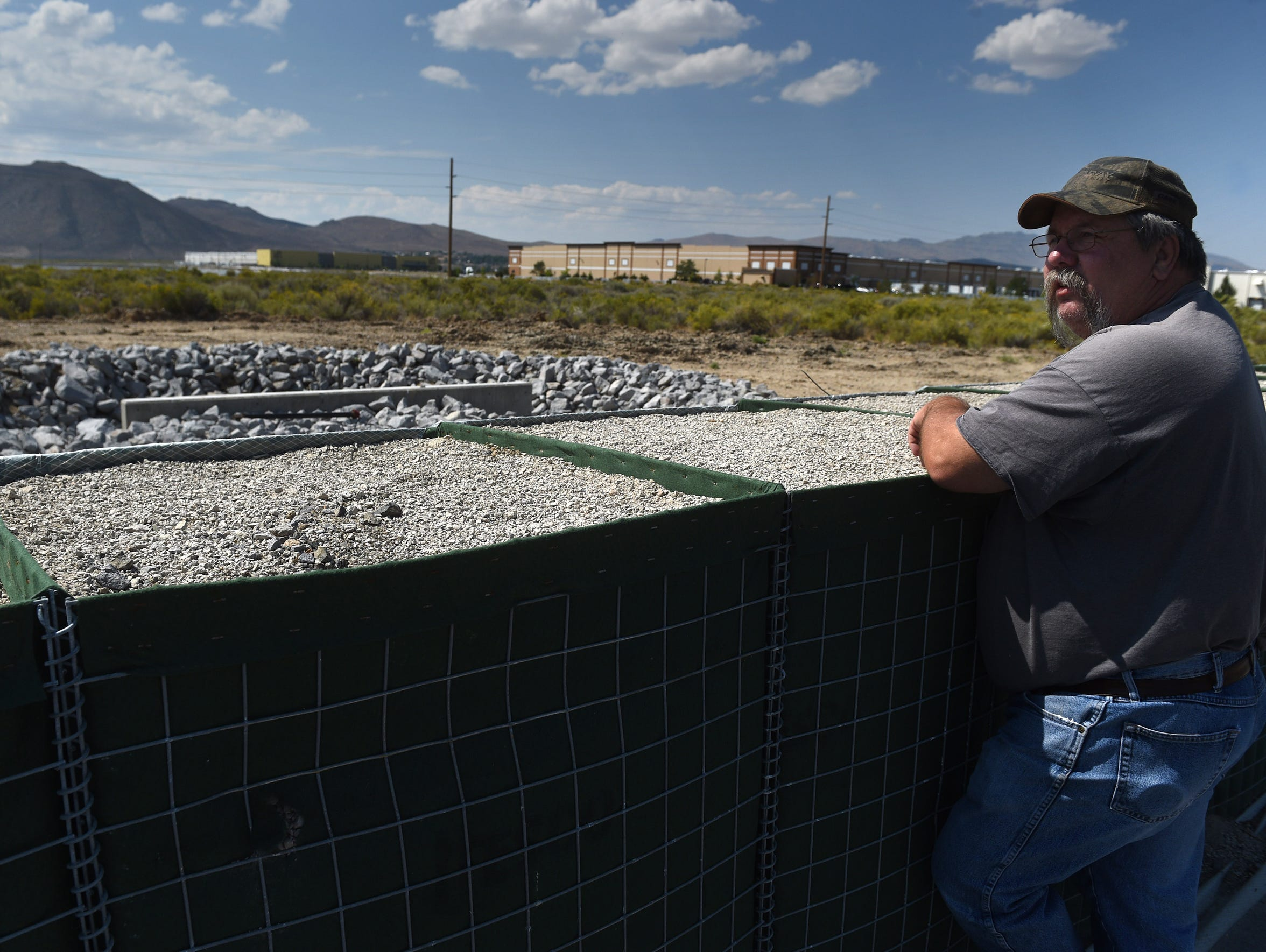 Lemmon Valley resident Danny Cleous looks out over