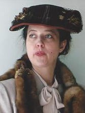 Historian Leslie Goddard, in her Eleanor Roosevelt period clothing.