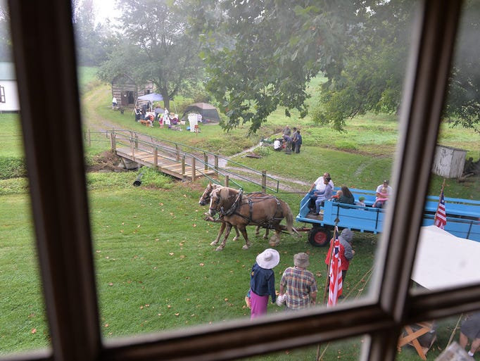 From the window of the Alexander Schaeffer Farmhouse,