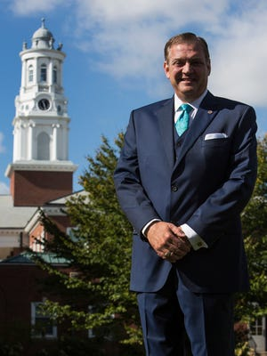 The Rev. Albert Mohler Jr., Southern Baptist Theological Seminary president, poses for a portrait during Oct. 12, 2015, at the campus in Louisville, Ky.