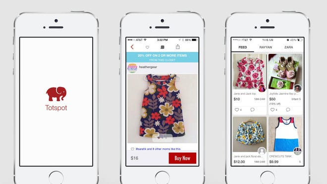 The marketplace app Totspot was created to connect families who want to buy and sell unworn or gently worn kids' clothing. By uploading an image and setting a price, families can offer their items to those who want and need them, without the work of setting up a yard sale or dropping items at a consignment shop.