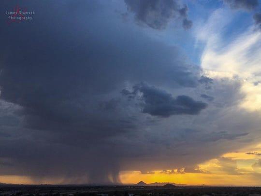 Rain as seen from Mesa, by Loop 202 and Brown Road.