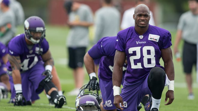 Adrian Peterson hasn't played for the Vikings since Week 1.
