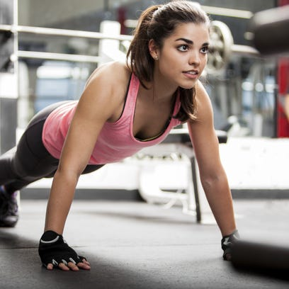 Pushups can be a fast way to get a workout in during the day.