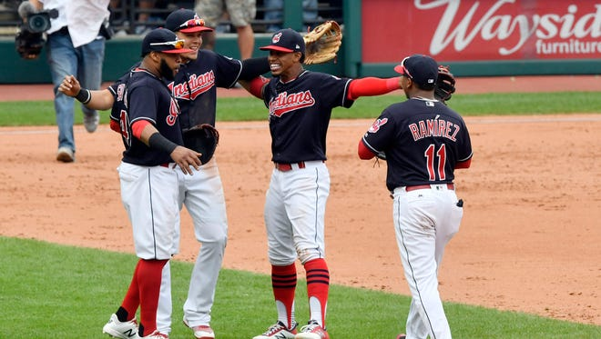 Joyful gatherings have been abundant for the Indians since they launched a 21-game winning streak.