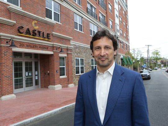 Frank Boccanfuso, managing principal of Phoenix Partners, the developer of The Mariner and The Castle, rental apartment buildings near the Port Chester train station is photographed at The Castle, April 29, 2016.