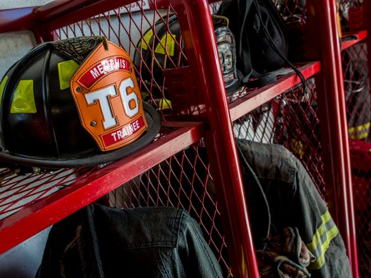 Equipment is seen stored Tuesday, June 21, 2016 at the Memphis Fire Department. The department is hosting a camp July 18-21 to recruit more paid-on-call firefighters. The department currently has 16 paid-on-call firefighters.