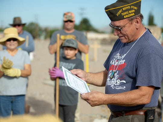 Stephen Elchlepp, with Tonto Basin Fort Reno VFW post