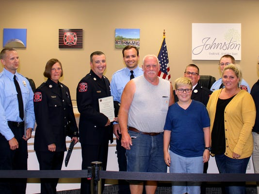 636349668512705760-9.-Mayor-Paula-Dierenfeld-Brook-Hansen-Ginger-McAndrew-Shawn-Benberg-Alex-Headley-Lt.-Sean-McAndrew-Nick-Hutchinson-Chief-Jim-Clark.JPG
