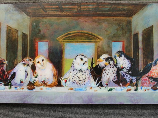 """""""Birds of Pray"""" by Barton DeGraaf is a print on panel that sells for $320 at the 66th annual Salem Art Fair & Festival."""