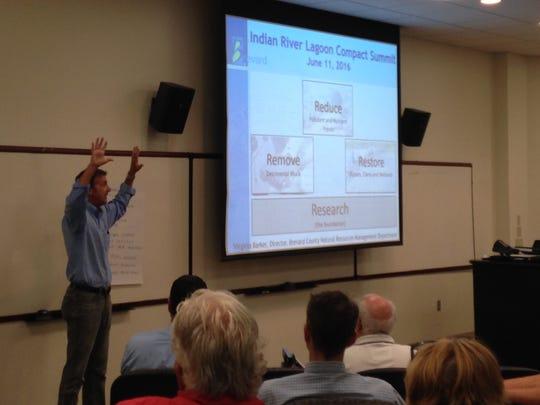 Mel Scott, a representative with Atkins, a design/engineering
