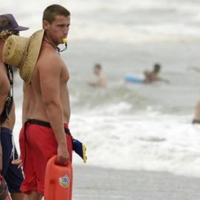 Lifeguards reported a number of rip current rescues