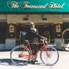 The Townsend Hotel has two Shinola bikes available for rent.