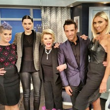 "Joan Rivers with the ""Fashion Police."""