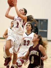 Senior point guard Valerie Lopez (1) led the Lady Wildcats to a 51-44 victory over the Gadsden High Panthers on Tuesday evening at Deming High School. Lopez led all scorers with 18 points.