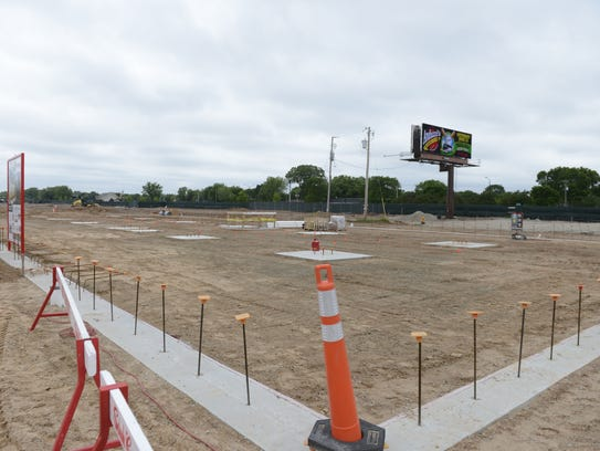 The foundation of Hinterland Brewery's new building